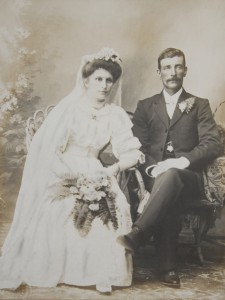 Annie Frostrop and William Vickers Wedding photo kindly provided by Les Vickers